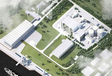 plant layout proposal gas and steam power plant winning proposal henn archdaily