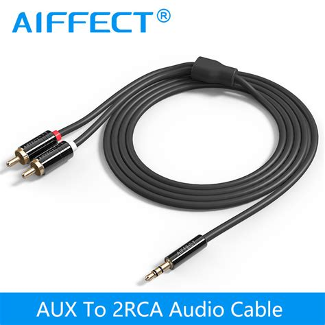 3 5mm Aux Audio Splitter aiffect 3 5 mm to 2 rca audio cable aux splitter 3