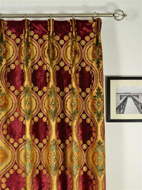 velvet damask curtains maia vintage damask versatile pleat velvet curtains