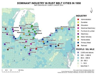"""march 2016, dominant industries in rust belt cities in"