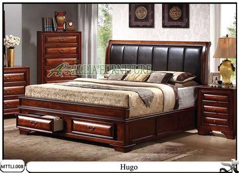Tempat Tidur Minimalis Laci tempat tidur minimalis jati laci hugo allia furniture