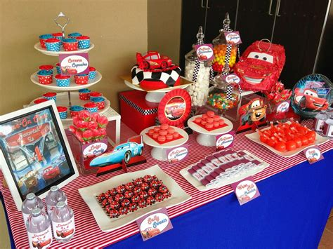 Disney Cars Table by Lizzie As A Mummy Lightning Mcqueen Cake And Disney Cars