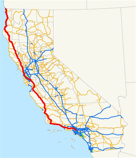 california map hwy 101 map of route 101 usa