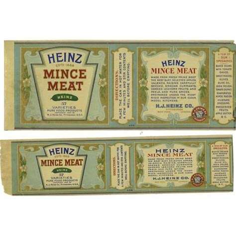 Heinz Label Template by Heinz Vintage Images