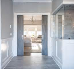 Barn Doors For Bathroom Gray Barn Doors Transitional Bathroom Benjamin San Antonio Gray Connor Design