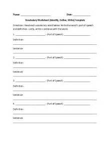 vocabulary worksheet template 14 best images of vocabulary matching worksheet template