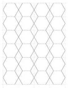 Hexagon Templates For Paper Piecing by Best Photos Of 1 2 Inch Hexagon Templates Hexagon Shape