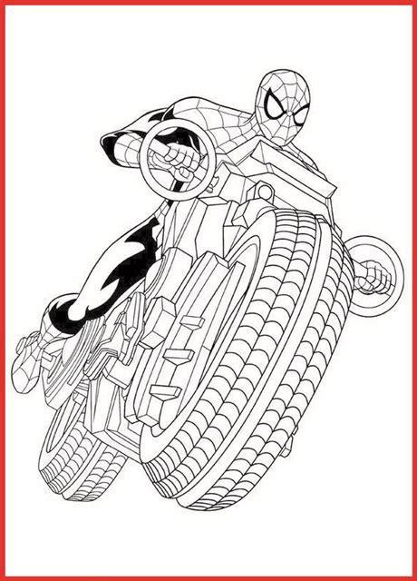 Ausmalbilder Spiderman Auto Motorcycle   Rooms Project