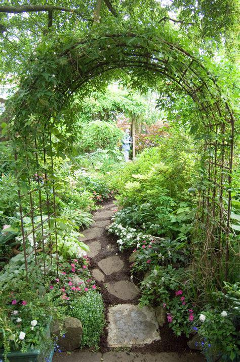 backyard arch arch in back yard