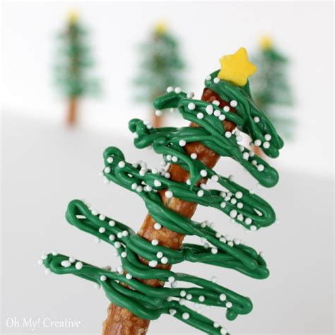 chocolate pretzel christmas trees 6 oh my creative