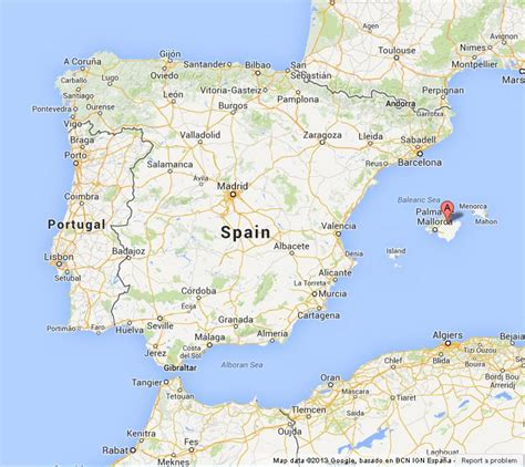 mallorca world map mallorca on map of spain world easy guides
