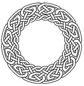 Celtic circle colouring pages