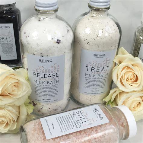 bathtub products being organic bath salts