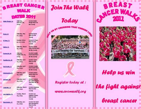 Term Two Parris Graphics Website Breast Cancer Brochure Template Free