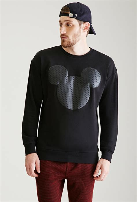 St Sweater Black Mickey forever 21 mickey mouse silhouette sweatshirt you ve been added to the waitlist in black for