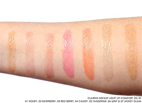 comfort colors swatches see the new clarins instant light lip comfort oil shades