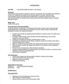 Loan Officer Assistant by Sle Loan Officer Description 8 Exles In Pdf Word