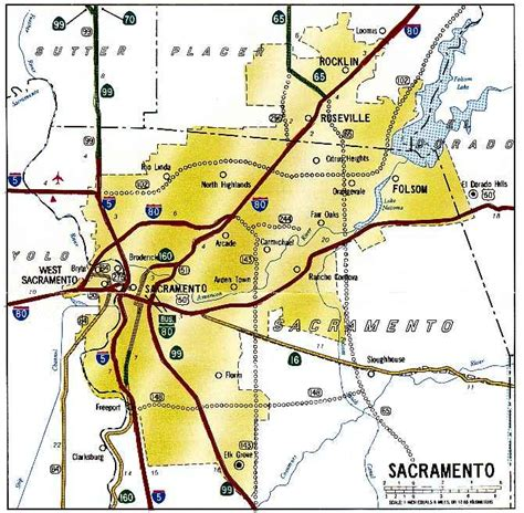 printable sacramento area map california highways www cahighways org sacramento