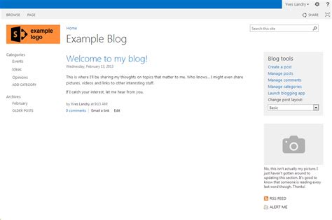 sharepoint online office blogs how to create a blog in sharepoint 2013 microsoft