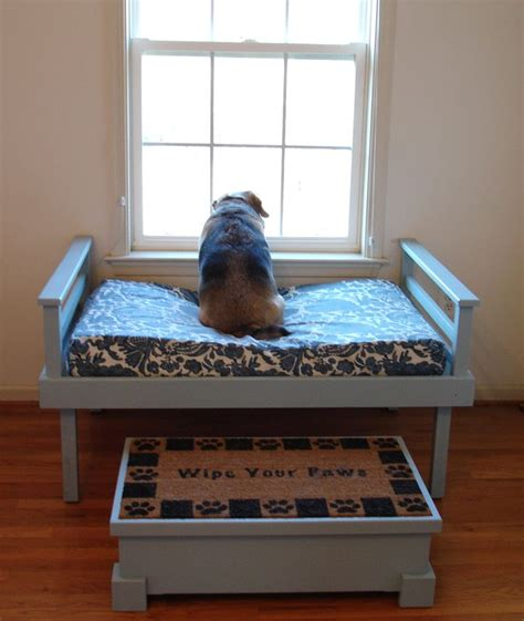 diy dog couch a dog has to have a window seat too and a bench to get up