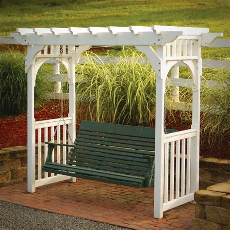 porch swing pergola arbor with a porch swing for the home pinterest