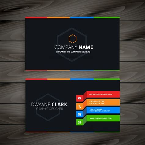Business Card Template Wavy by Black Business Card Vector Free