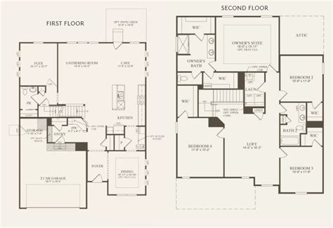 continental homes floor plans oberlin by pulte the new home experts 174