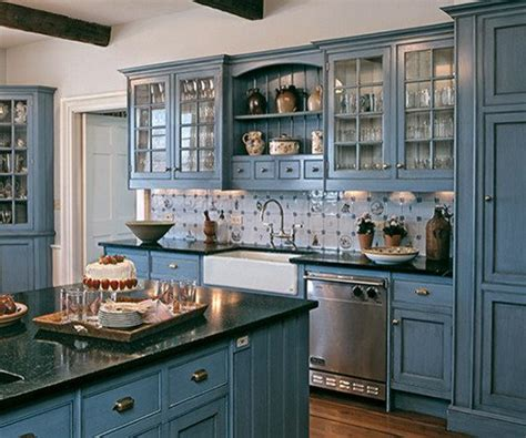 Country Blue Kitchen Cabinets | kitchen design ideas for 2015 color trend remodeling contractor