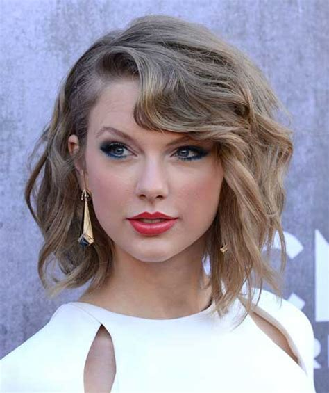 taylor swift wavy bob 30 best haircuts for short hair short hairstyles 2017