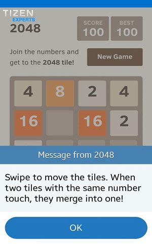 samsung z1 game '2048' 100 free copies available
