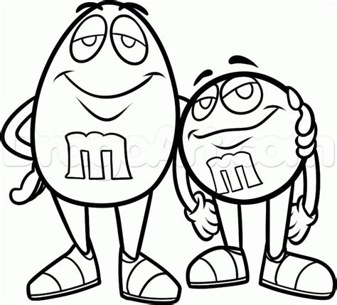 free draw how to draw mnms step by step characters pop culture