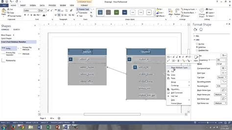 visio database model visio 2013 logical data models