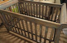 Refinishing Baby Crib by We Refinished The Crib To Make It Look Antiqued And Rustic