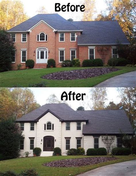 amazing what painted brick can do to transform and add character to a home exterior paint