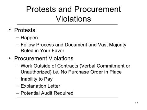 Unauthorized Commitment Letter Procurement Procedures Ross Boom Deputy State Purchasing
