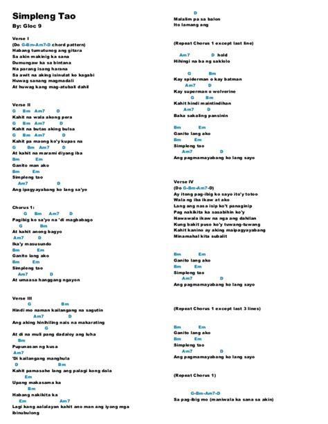 tutorial guitar dahil sayo song with lyrics