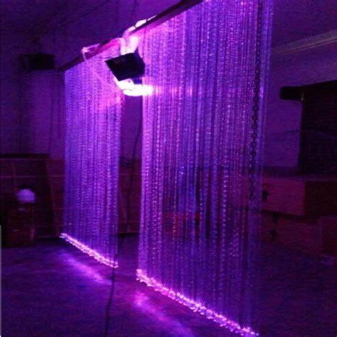 led waterfall curtain lights factory professional diy led waterfall optic fiber