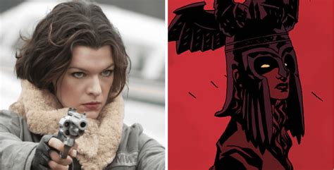 milla jovovich upcoming movies 2017 hellboy reboot milla jovovich cast as blood queen