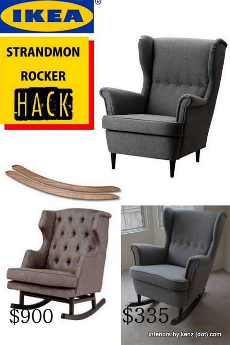 how to turn an armchair into a rocker ikea hack strandmon rocker diy wingback rocking chair