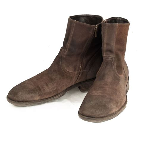 mens suede zip boots to boot new york adamderrick ankle boots mens 8 m suede