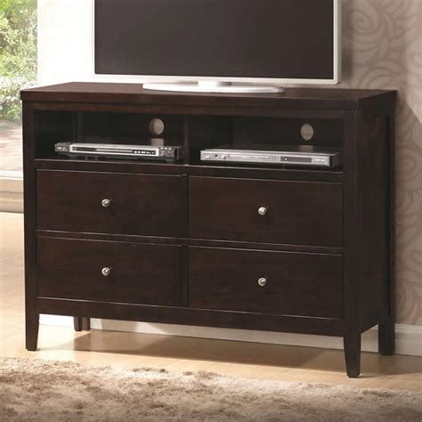 coaster fine furniture 202096 carlton media chest atg stores coaster carlton upholstered bedroom set cappuccino