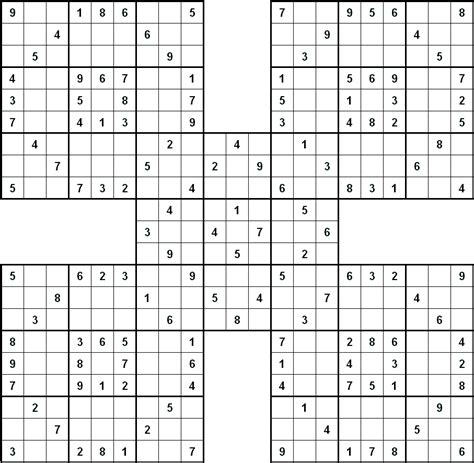 printable sudoku hard puzzles image gallery hard sudoku samurai
