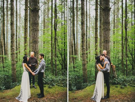 a magical elopement in the woods green wedding shoes a romantic elopement in the woods laura nick green