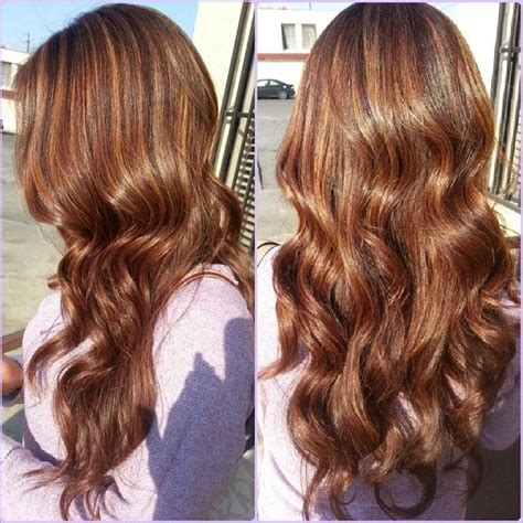 brunette hairstyles with copper highlights cooper highlights on dark brown hair home hair styles