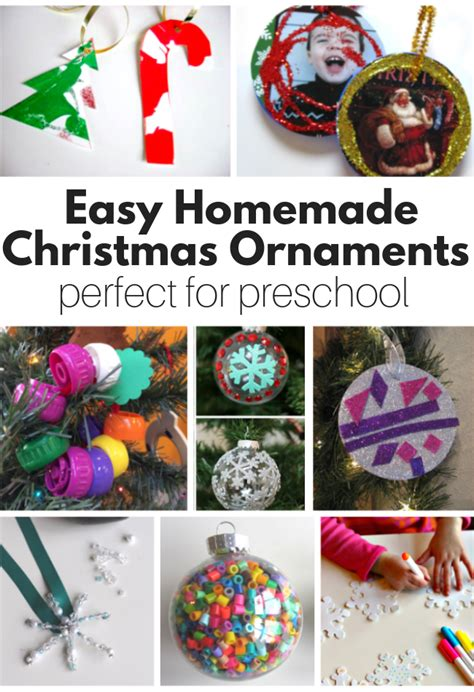 homemade christmas ornaments perfect  preschool