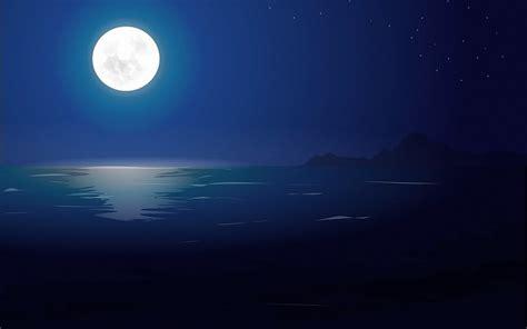 imagenes de paisajes en la noche mar estrellas de la noche del arte del paisaje de la luna