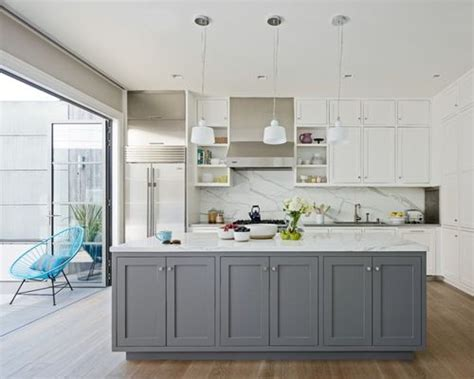houzz kitchens with white cabinets gray and white kitchens houzz