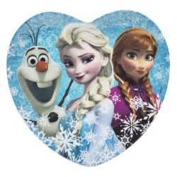 disney frozen anna amp elsa kids plates for sale elsa amp anna 8in heart zak zak designs