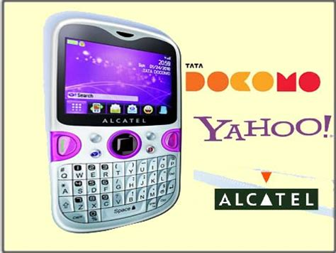 Yahoo Phone Search One Touch To Yahoo On An Alcatel Phone Courtesy Tata Docomo