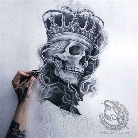 skull with crown tattoo designs pin by khờ mờ lờ on by kml